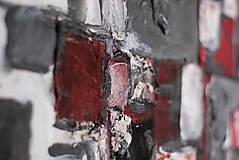 Obrazy - cenzúra /abstraktná maľba na plátne - kombinovaná technika/ - 9906867_