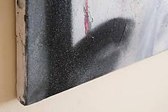 Obrazy - slúžka /maľba - akryl a sprej na plátne A3/ - 9907161_