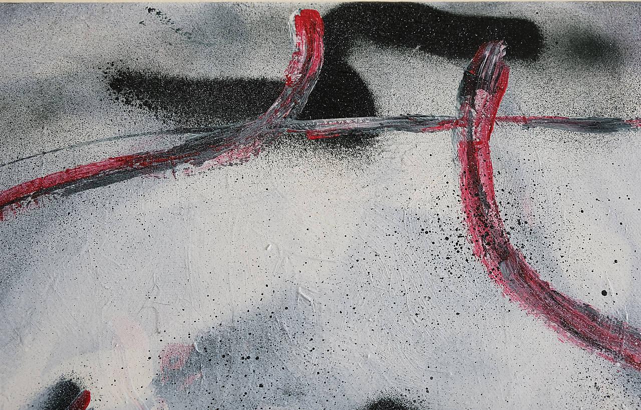 slúžka /maľba - akryl a sprej na plátne A3/
