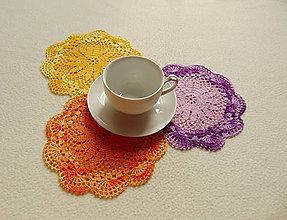 Úžitkový textil - Malé háčkované dečky - 9905963_