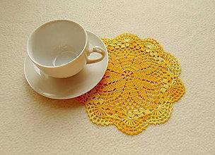 Úžitkový textil - Malé háčkované dečky (Žltá) - 9905982_