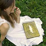 Papiernictvo - Zelená svadobná sada na lesnú svadbu (album + kniha hostí) - 9906910_