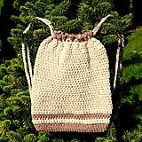 Batohy - háčkovaný ruksačik - 9905278_