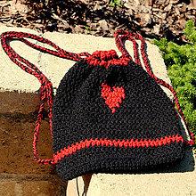 Batohy - háčkovný ruksačik - 9905110_
