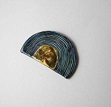 Odznaky/Brošne - Tana šperky - keramika/zlato - 9905308_