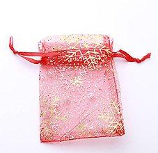 Obalový materiál - VO103 Vianočné organzové vrecúško 7 x 9 cm - 9907230_