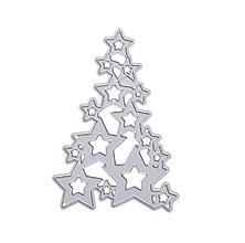 Pomôcky/Nástroje - Vianočná šablóna STROMČEK 6 x 8,7 cm - 9907303_