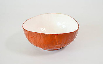 Nádoby - Recyklovaná miska - BROWN midi - 9906087_