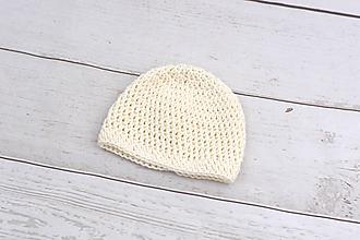 Detské čiapky - Smotanová čiapka EXTRA FINE - 9906219_