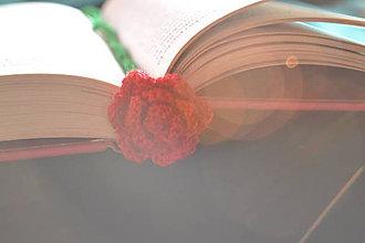 Drobnosti - Háčkovaná záložka do knihy - 9905822_