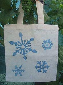 Iné tašky - Taška so snehovými vločkami - 9906531_