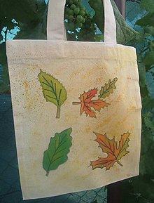 Iné tašky - Taška s jesennými listami - 9906788_