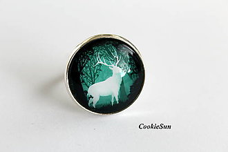 Prstene - The Deer in Green - 9905419_