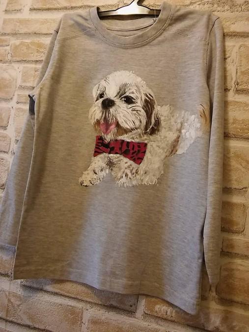 Tričko so psíkom na hrudi