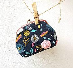 Peňaženky - Peňaženka XL Zmes kvetov - 9905222_