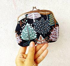 Peňaženky - Peňaženka XL Grafické stromy - 9905224_