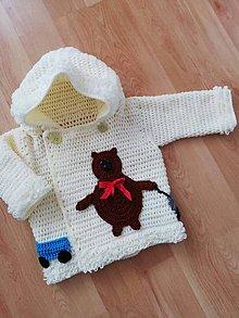 Detské oblečenie - Svetrík s vláčikom - 9905266_