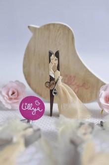 Darčeky pre svadobčanov - Svadobné magnetky, ktoré sa na vás budú podobať! Svadobné štipce - 8620470_