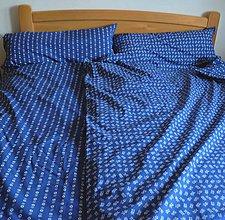 Úžitkový textil - Bavlnené romantické posteľné návliečky (Modrá vzor 180) - 9905124_