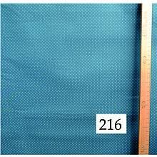 Úžitkový textil - Bavlnené romantické posteľné návliečky (Petrolejová so sivými bodkami) - 9905134_