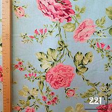 Úžitkový textil - Bavlnené romantické posteľné návliečky (Kvety na svetlomodro-tyrkysovej) - 9905137_