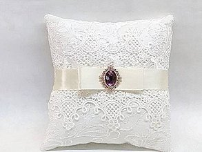 Prstene - Svadobný vankúšik - 9906465_