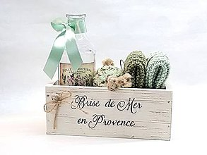 Dekorácie - Krabička s pletenými žinkami - 9906855_