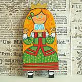 Odznaky/Brošne - Princezna Anna - kožená brož - 9905927_