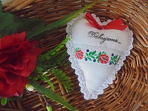 Darčeky pre svadobčanov - Svadobný darček,srdiečko folk - 9905341_