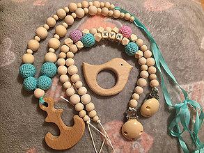 Hračky - Nosiaci náhrdelník - Mint - 9905575_