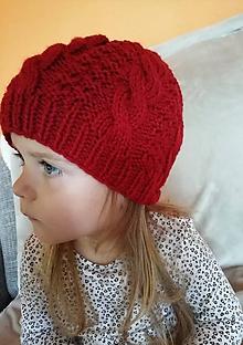 Detské čiapky - červená čiapočka ELIT - 9908838_