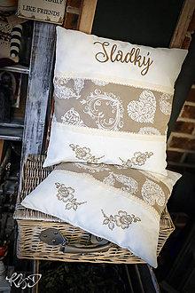 Úžitkový textil - Elegantné vankúšiky
