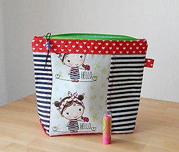 Taštičky - Veľká kozmetická taška (kozmetická taštička - Kamarátka na cesty) - 9908808_