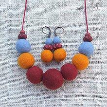 Sady šperkov - ...plstený náhrdelník a náušnice... - 9909201_