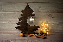 Dekorácie - Drevený vianočný stromček - 9908562_