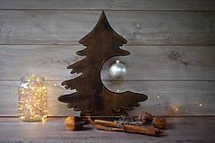 Dekorácie - Drevený vianočný stromček - 9908565_