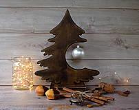 Dekorácie - Drevený vianočný stromček - 9908567_