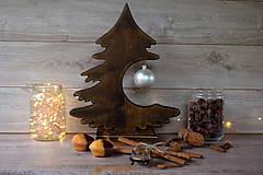 Dekorácie - Drevený vianočný stromček - 9908568_