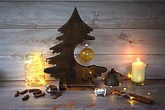 Dekorácie - Drevený vianočný stromček - 9908571_