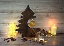 Dekorácie - Drevený vianočný stromček - 9908574_