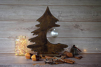 Dekorácie - Drevený vianočný stromček - 9908569_