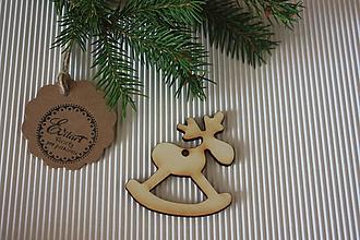 Dekorácie - Vianočná ozdoba - sobík - 9910269_