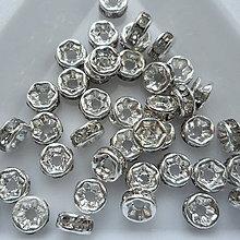 Korálky - Šaton.rondelka-1ks (5mm-strieb/krystal) - 9910004_