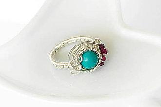 Prstene - wrap prsteň s tyrkysom / Ag - 9910415_