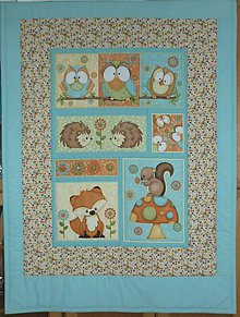 Textil - Detská deka ZVIERATKÁ (dva varianty)  (rozmer 141x100 cm) - 9910214_