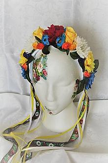 """Ozdoby do vlasov - Svadobná kvetinová parta """"folklórna I."""" - 9908725_"""