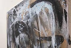 Obrazy - pochyby /abstraktná maľba na plátne - kombinovaná technika/ - 9908360_