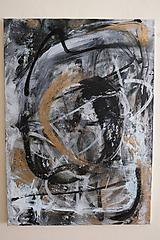 Obrazy - pochyby /abstraktná maľba na plátne - kombinovaná technika/ - 9908684_