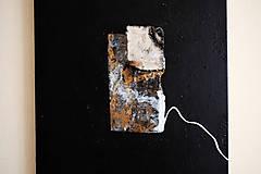 Obrazy - okno /abstraktná maľba na plátne - kombinovaná technika - A3/ - 9908743_