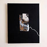 Obrazy - okno /abstraktná maľba na plátne - kombinovaná technika - A3/ - 9908744_